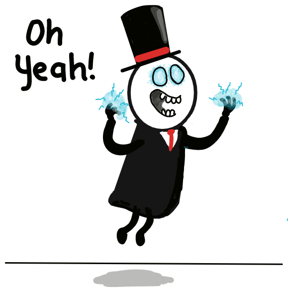Oh yeah, I'm magic! - Online Drawing Game Comic Strip Panel by WizardCroissant