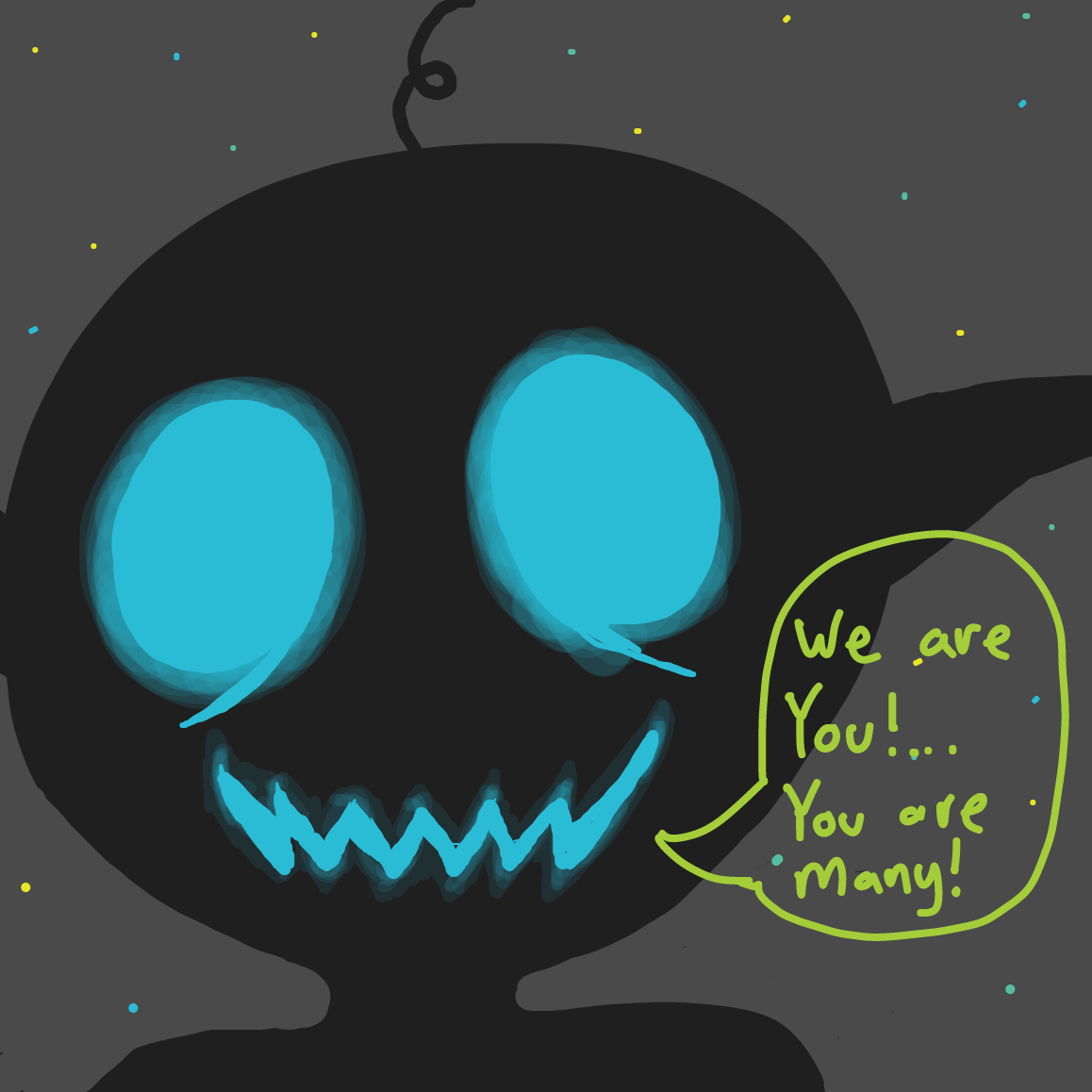 """You are many!"" - Online Drawing Game Comic Strip Panel by devryan"