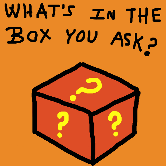 What's in the box? - Online Drawing Game Comic Strip Panel by YellowSheep