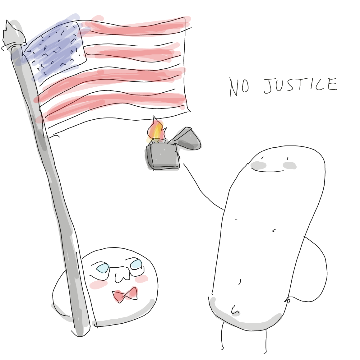 Drawing in America Mochi by Potato Man