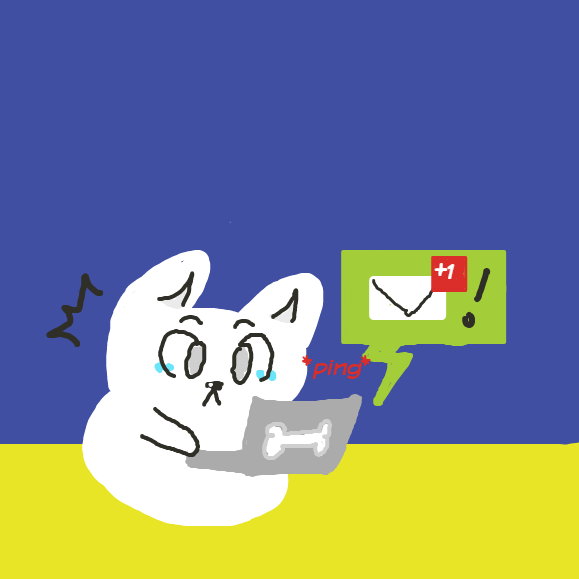 A new messege arrive!  - Online Drawing Game Comic Strip Panel by YellowSheep