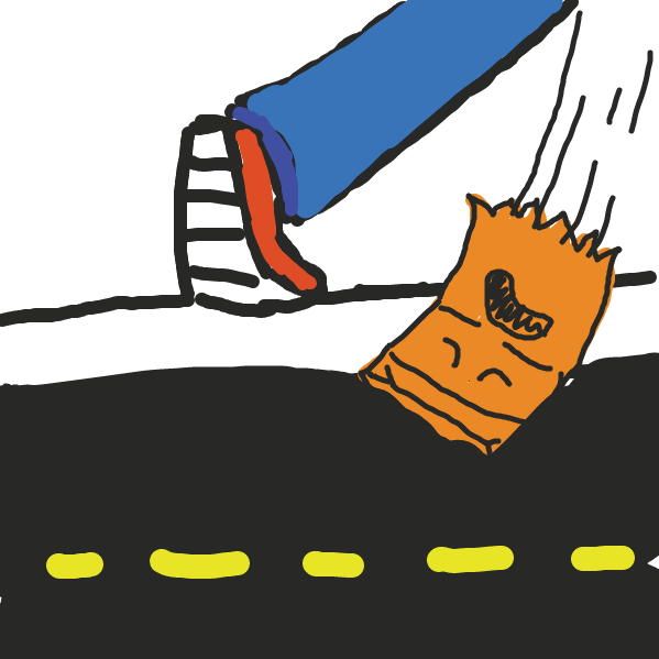 First panel in paper bag man drawn in our free online drawing game