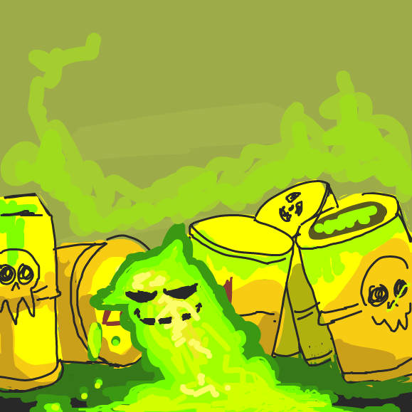 Drawing in Radioactive waste  by polar