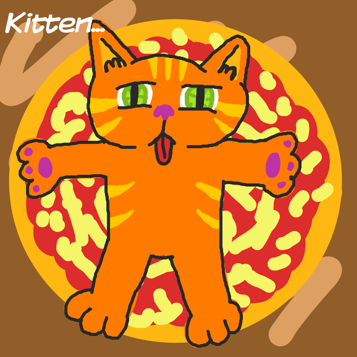 Drawing in Cooking pizza... by joshyouart