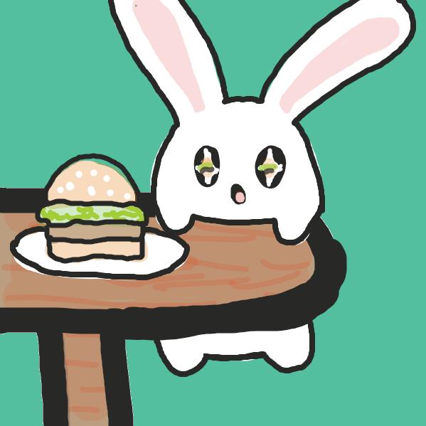 Liked webcomic Bunnies love hamburgers