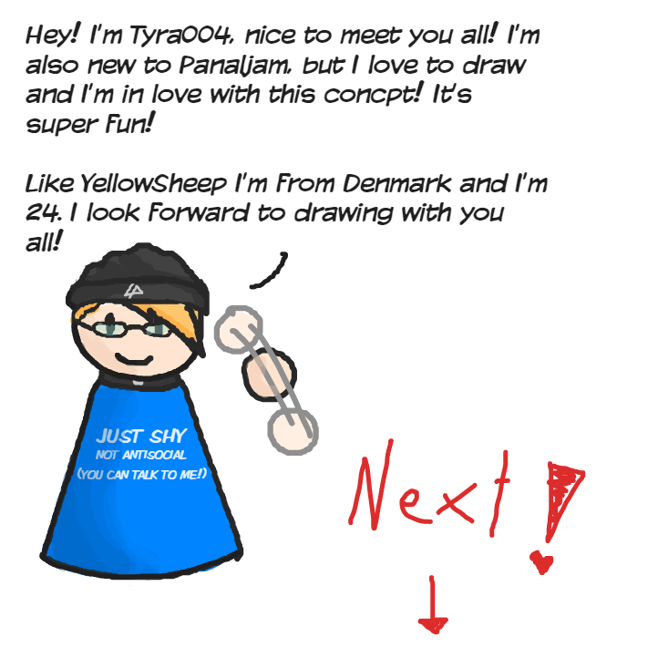 Hey! :)  - Online Drawing Game Comic Strip Panel by Tyra004