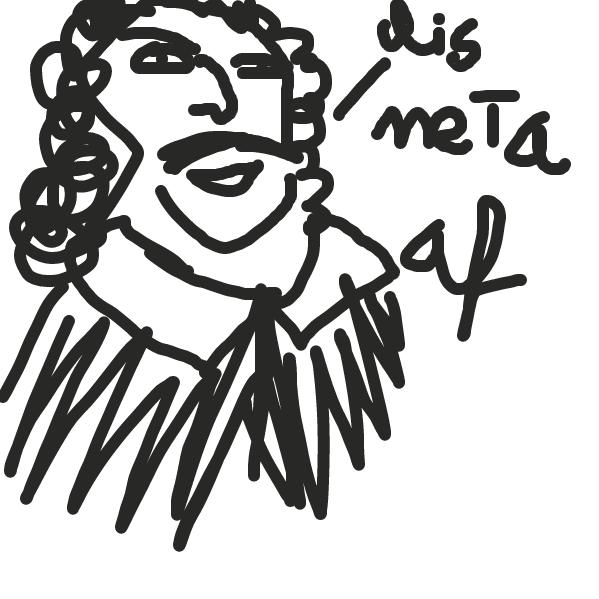 First panel in metametameta drawn in our free online drawing game