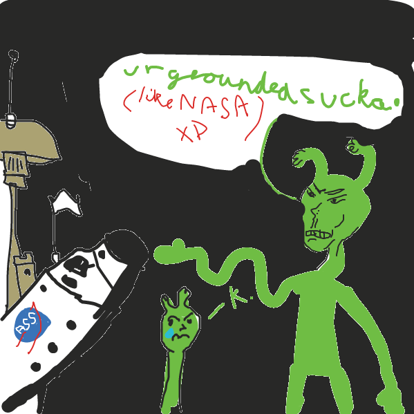 i didnt want finality, this is a nevereding story of poor boy allen the alien - Online Drawing Game Comic Strip Panel by a leek