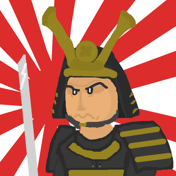 sure, you could beat my character, but what about a samurai?! - Online Drawing Game Comic Strip Panel by Just Alex
