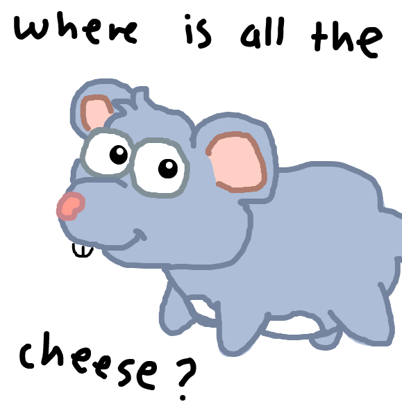 Poor Monty, he lost his cheese - Online Drawing Game Comic Strip Panel by SteliosPapas