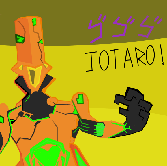 Drawing in Warframe X Jojo by Freezershadow51