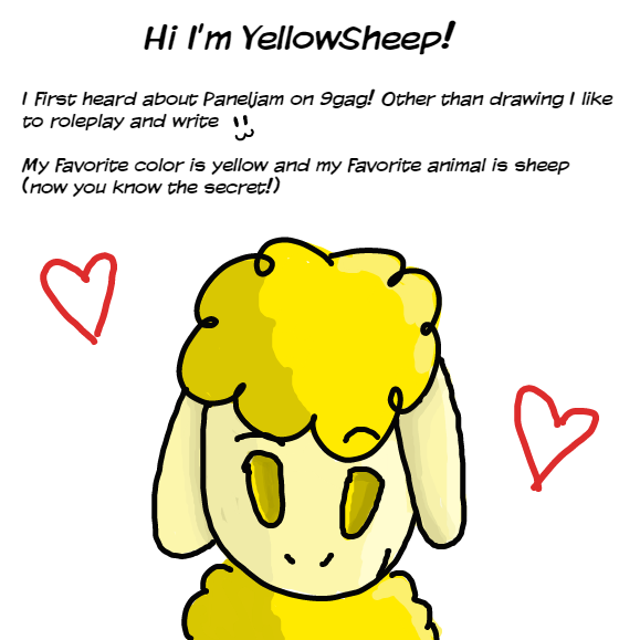 I know I already answered one of these... but thought it was a shame no one was replying and thought I'd add some new details about myself :P Hi! - Online Drawing Game Comic Strip Panel by YellowSheep