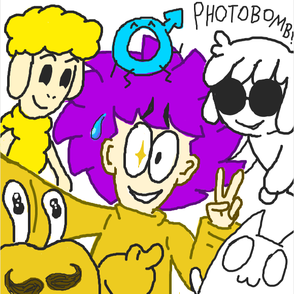 Group photo!!! :D love ya <3 - Online Drawing Game Comic Strip Panel by Painterjosh