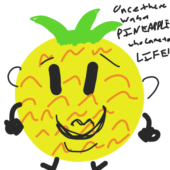 The first Sentient pineapple comes into existence. - Online Drawing Game Comic Strip Panel by RithTrelin