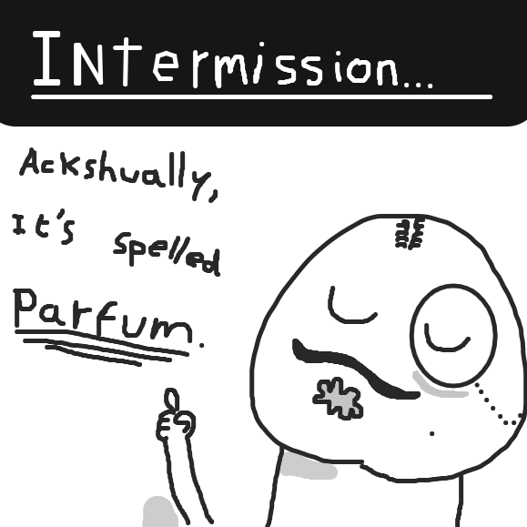 An intermission to correct a spelling mistake. - Online Drawing Game Comic Strip Panel by Typical_Hetero_Human