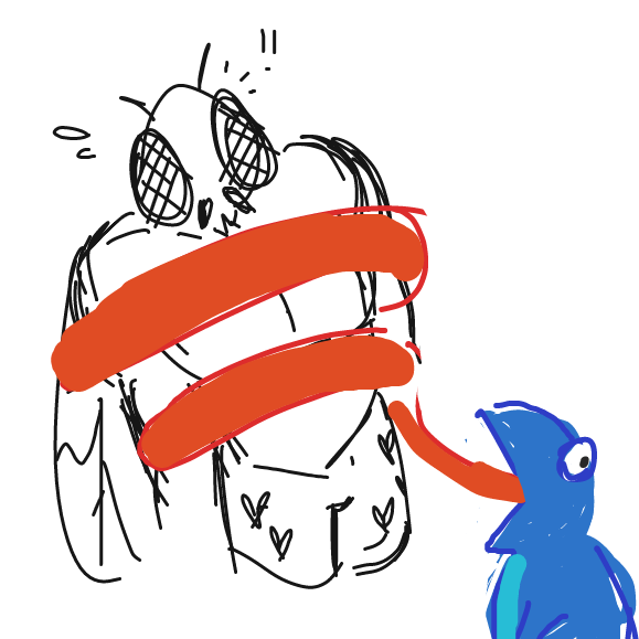 looks like Frody has the fly in his grasp! - Online Drawing Game Comic Strip Panel by MiYEET